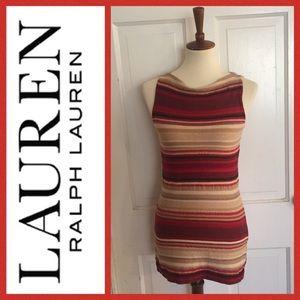 LAUREN Ralph Lauren Striped Cotton Tunic. Size S